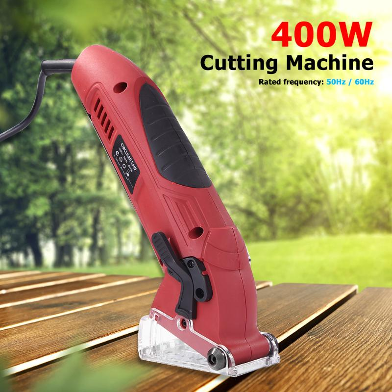 Tools : 400W Electric Mini Circular Saw Laser Cutting Wood PVC Tube Cutting Machine Electric Saw for Cutting WoodPVC Tube Tile