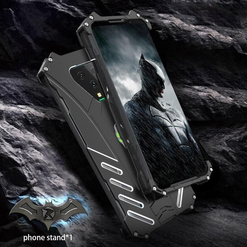 For Xiaomi Black Shark 3 Pro Case R-JUST Batman Luxury Aluminium Metal Case For Black Shark 3 Phone Cover Coque BlackShark 3 pro