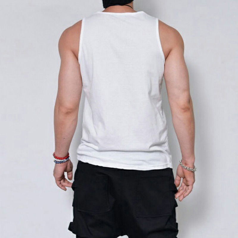 running - 2020 New Summer Men O Neck Tank Tops Sport Sleeveless Vest Art Feather Print Casual T Shirt Fashion Male Clothing Plus Size