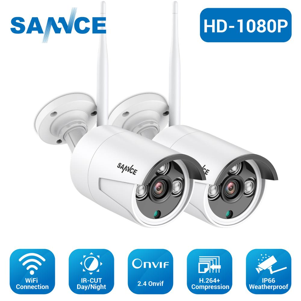 SANNCE FHD 1080P IP Wi-Fi беспроводная видеокамера система безопасности Пуля Всепогодная камера 100ft ночное видение с умным ИК