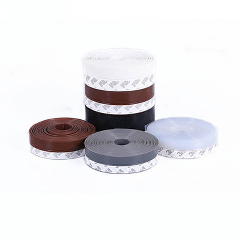 25mm  Width Door Window Bottom Self Adhesive Silicone Rubber Seal Strip Weatherstrip Bar Door Sealing Strip Window Sealing Tape