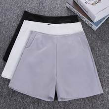 2019 New Summer hot New Women Shorts Skirts High Waist Casual Suit Shorts Black White Women Short Pants Ladies Shorts AH359(China)