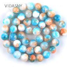 Natural Gem Stone Blue Persian Jades Round Beads for Jewelry Marking 6 8 10mm Charm Spacer Beads Diy Bracelet Necklace 15'' natural fuchsia persian jades stone round loose beads for jewelry making 6 10mm spacer beads fit diy bracelet necklace 15
