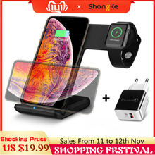 Qi Wireless Charger Phone Watch Fast charging mobile holder For Apple Watch 3 2 1 For iphone XS MAX XR X 8 Plus Samsung S9 S8