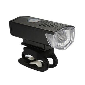 Usb luz da bicicleta recarregável 300 lumens frente ciclismo farol bicicleta led lanterna lâmpada à prova dwaterproof água 1
