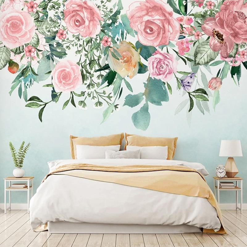 Custom 3D Wall Murals Wallpaper For Bedroom Walls Modern Hand Painted Flowers Art Mural Living Room Sofa TV Backdrop Home Decor