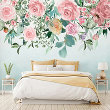 Custom 3D Wall Murals Wallpaper For Bedroom Walls Modern Hand Painted Flowers Art Mural Living Room Sofa TV Backdrop Home Decor цена 2017