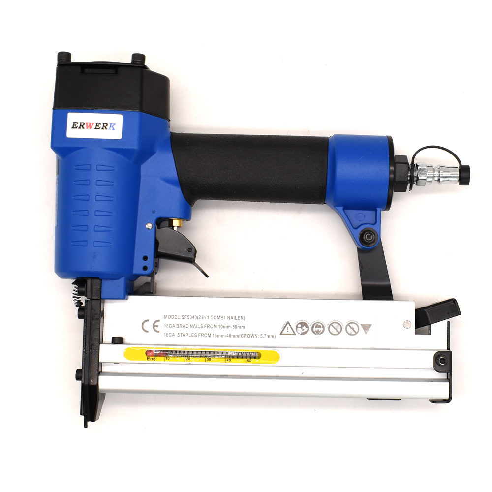 Tools : 2 in 1 Framing Pneumatic Nail Staples Gun Set 3 4-Inch To 2-Inch 18GA Brad Nailer SF5040 Air Stapler For Woodworking