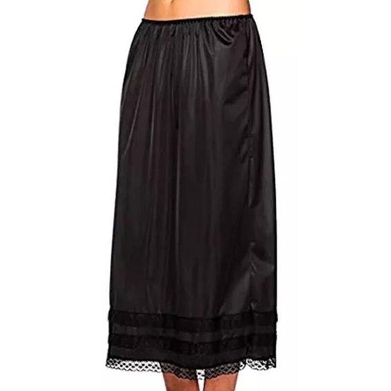 Летняя женская юбка, Женская юбка миди, женские свободные юбки для отдыха, юбка до середины икры, женская элегантная юбка с кружевным краем
