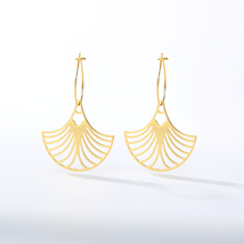 Europe and America Exaggerate Scallop Drop Earrings New Fashion Shell Ocean Amorous Feelings Hollow Geometric