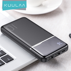 KUULAA Power Bank 10000mAh Portable Charging PowerBank 10000 mA PoverBank USB External Battery Charger For Xiaomi Mi iPhone11 12