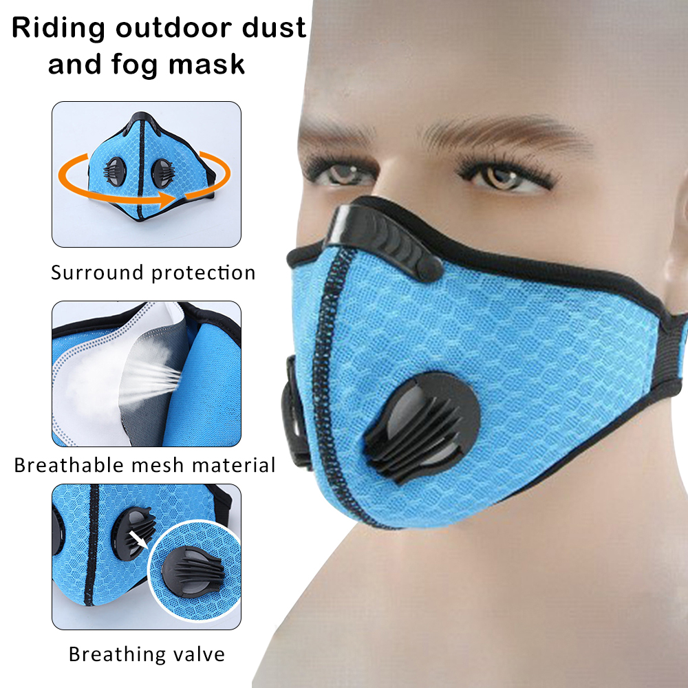 Cycling Face Mask Dust-proof Mesh Mouth Masks Protection Outdoor Face Mask Dustproof Breathing Respirator Sportswear Accessories