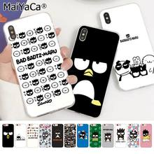 MaiYaCa Bonito dos desenhos animados BAD Badtz Maru DIY High-end de Luxo Protector Case para iphone 11 pro 8 7 66S mais X XS MAX 5S SE XR Tampa(China)