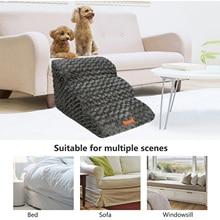 Pet Stair Dog Cat Pet 3 Step Removable Non-slip Ramp Climbing Detachable Bed Ladder Convenient to Dog Climbing Bed Ladder