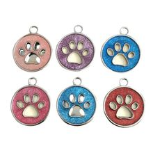 New Popular Pet Jewelry Anti-Lost Dog Card Love Heart Tag Bone Foot Print Handwritten Pendant Cat Carrier Collar Charm Necklace(China)