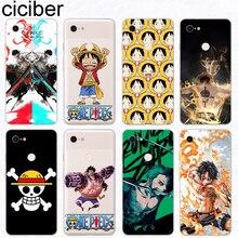 ciciber Anime One Piece Phone Cases Funda for Google Pixel 3 2 XL Soft Silicone TPU Cover for Google Pixel 3XL 2XL Coque Capinha
