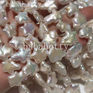 Image 5 - White FRESHWATER PEARLS  STRAND AAA Reborn keshi Nucleated Baroque pearl  loose  beads  around 40CM