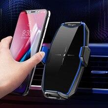 Беспроводное зарядное устройство Qi 15 Вт, автомобильное вентиляционное отверстие, быстрое зарядное устройство, мобильный телефон, держател...