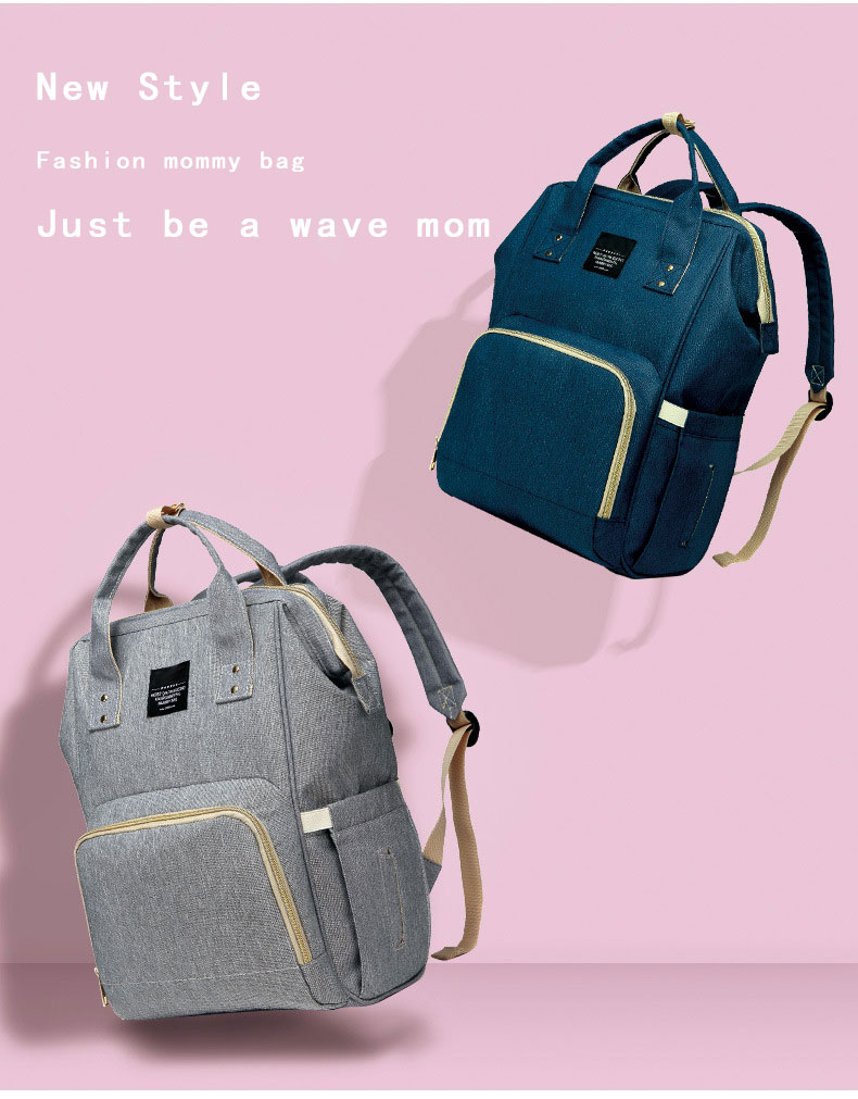 H5b5d188edf2b45cbb3f4394aa5034467f Fashion Mummy Maternity Nappy Bag Waterproof Diaper Bag With USB Stroller Travel Backpack Multi-pocket Nursing Bag for Baby Care