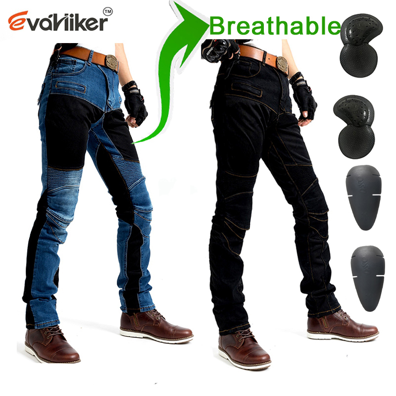 NEW 719 Black or Blue Breathable net Jeans Men s Motorcycle Protection Pants Summer ventilation moto riding pants with Prote