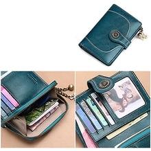 Women's Wallet Leather Women's Wallet Luxury Brand  New High Quality Fashion Women's Wallet Card Package Short Clutch Bag Wallet
