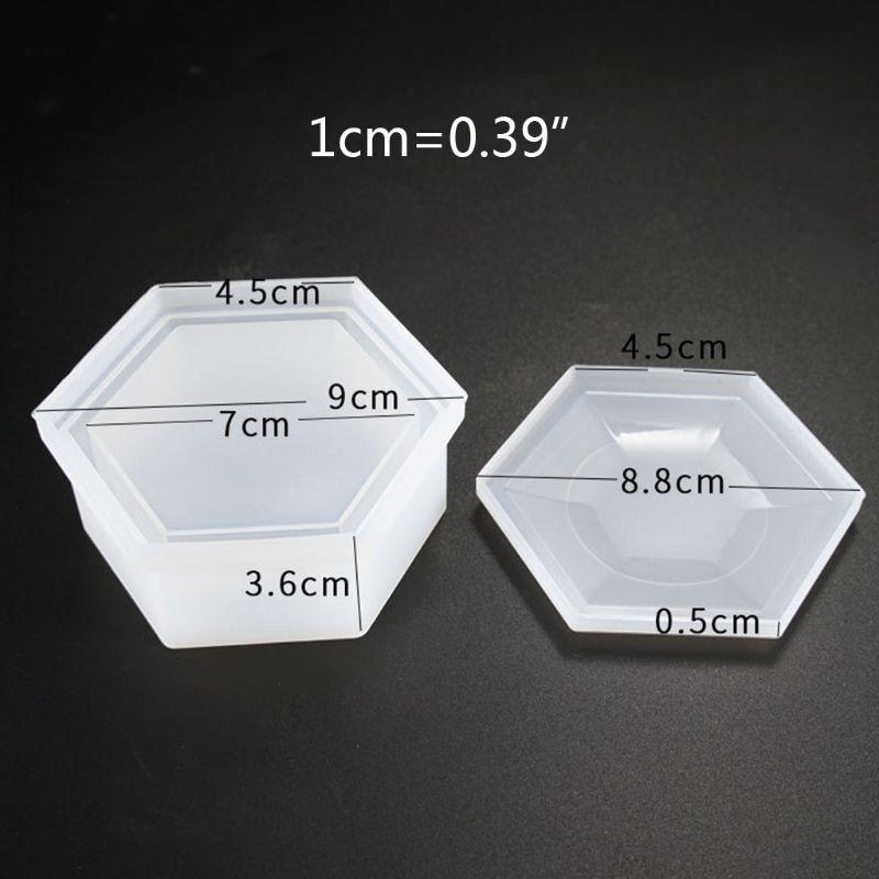 Купить с кэшбэком DIY Hexagon Storage Box Mold Crystal Epoxy Plum-shaped UV Resin Silicone Mould