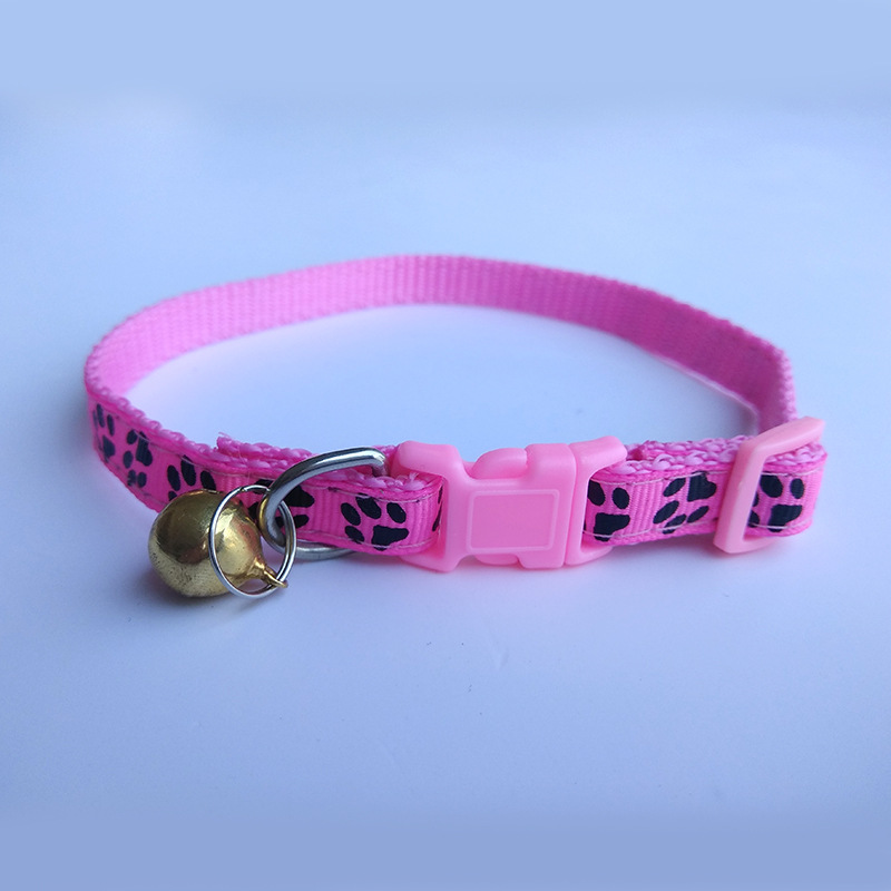 Pet Neck Ring Cat Neck Ring Dog Neck Ring Pet Collar 1.0 Nylon Collar Black Footprints Neck Ring