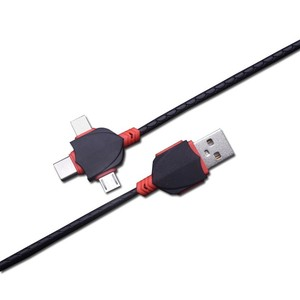 Cable USB 3 en 1 para móvil, Cable de datos Micro USB tipo C para Samsung Galaxy, Xiaomi redmi, Cable de datos Universal para iPhone X