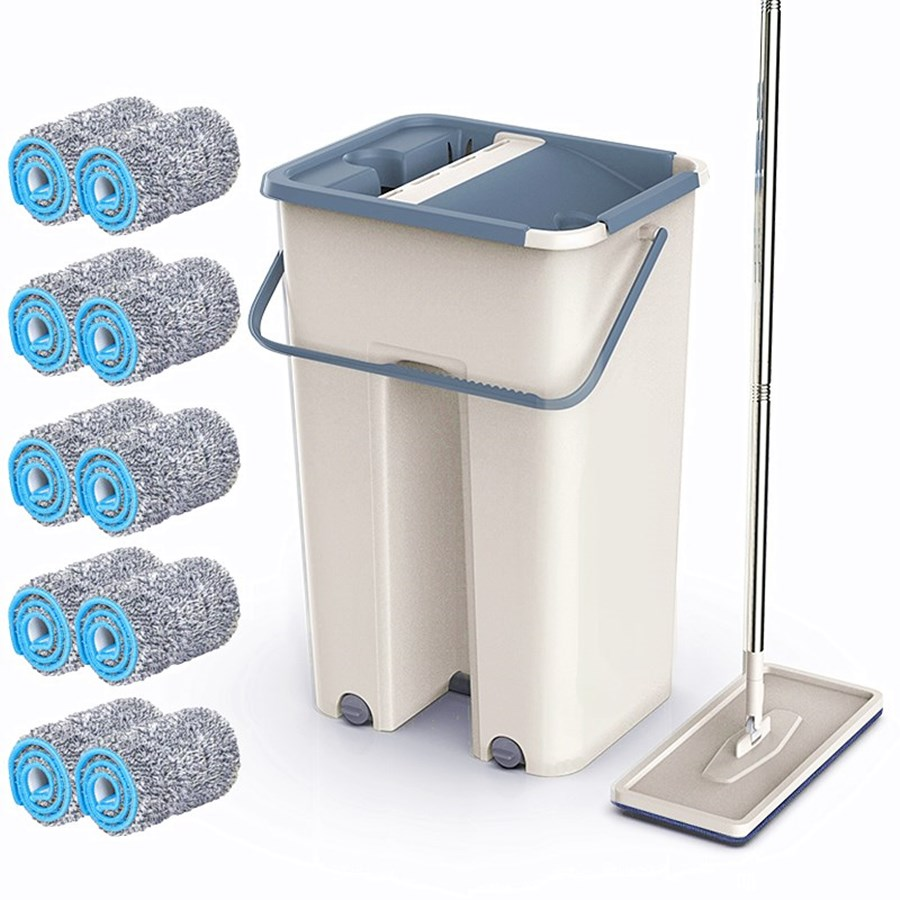 Magic Mops Cleaning Mops Free Hand Mop With Bucket Floors Squeeze Flat Mop With Water Home Kitchen Floor Cleaner|Mops| - AliExpress