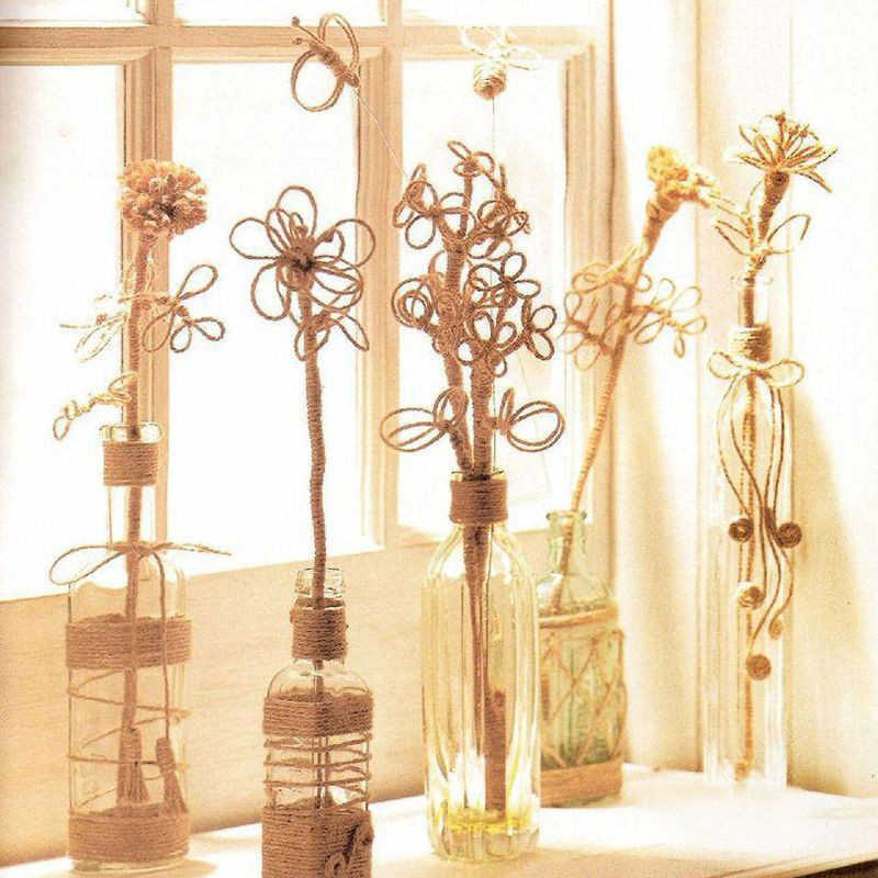 2 m/lote Natural cinta de arpillera yute Diy regalo Warrping cáñamo lazo clásico Festival decoración fiesta artesanías