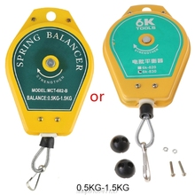 Durable Retractable Spring Balancer Steel Wire Rope Measuring Tool Hook Holder Hanging Assembly-line Fixtures M14 21 Dropship