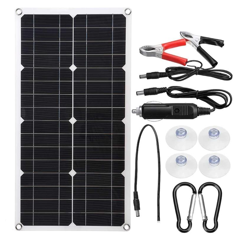 sistema de energia solar para acampamento carro