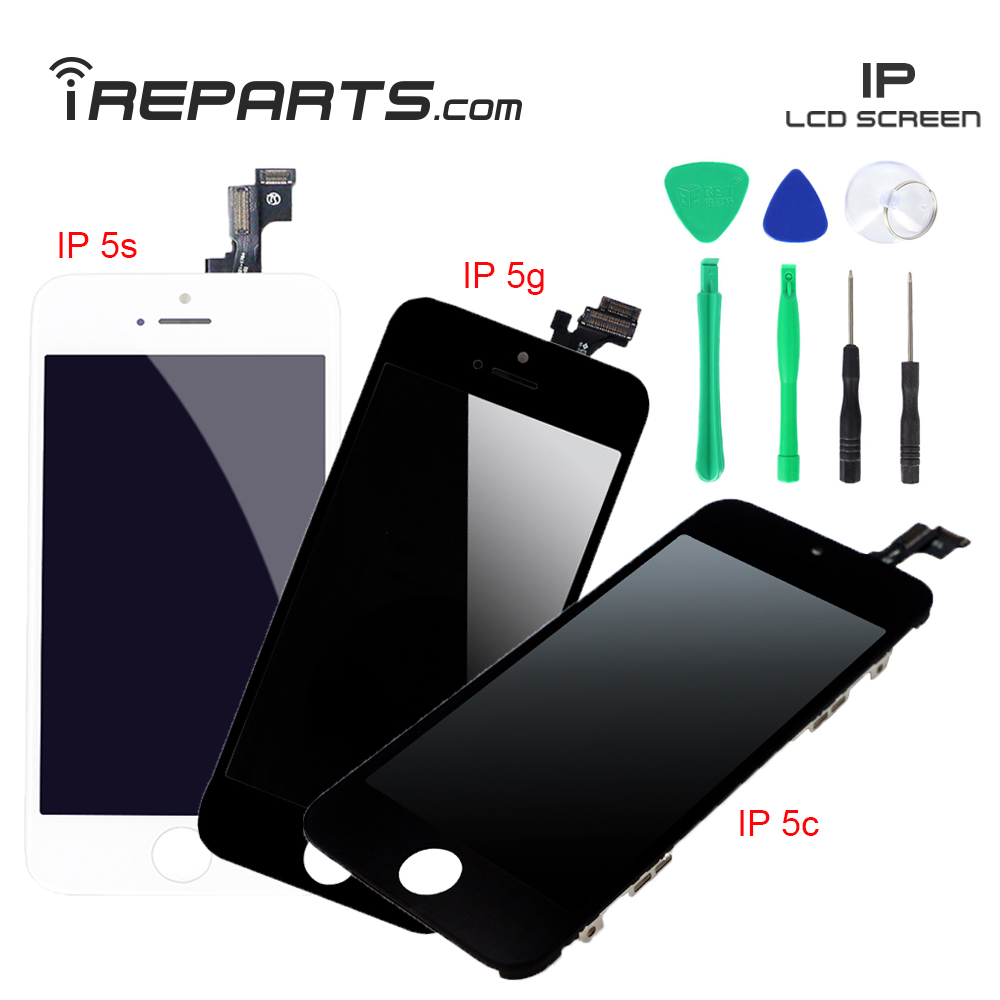 IREPARTS Screen Replacement Digitixer for iPhone 5 5g 5c 5s LCDs Display Pantalla + Free Tools Gift