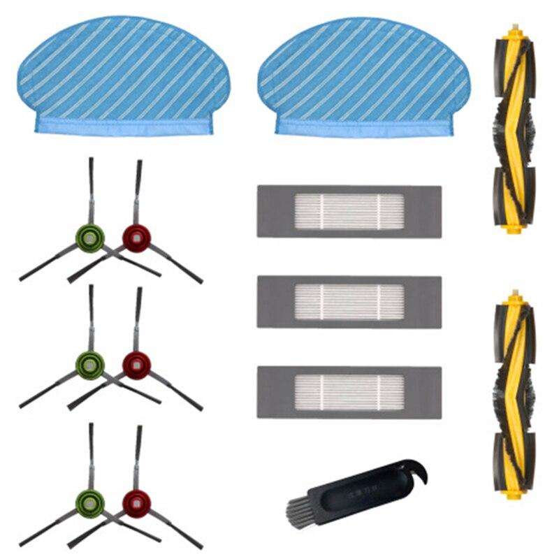 ALLTA 2 unids N79 Filtro de Cepillo Lateral para Ecovacs DEEBOT Robot Aspirador /Útil