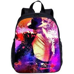 Nowy Michael Jackson drukowanie torba dziecięca torby szkolne przedszkole mały tornister dla dzieci chłopcy plecak śliczne na co dzień Mochila Infantil