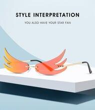 Новинка 2020 солнцезащитные очки с крыльями индивидуальные для