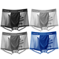 2/4/pcs/lot mens underwear boxers mesh Men's breathable and cool underwear for men fishnet shorts
