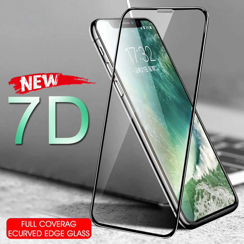 7D Tempered Glass For iPhoneX XS 6 6S 7 8 Plus 11pro max XR Screen Protector SE 2020 Protective For iPhone 8 7 SE 2 11 pro Glass(China)