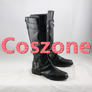 Image 4 - AnakinSkywalker Black Cosplay Shoes Boots Halloween Carnival Cosplay Costume Accessories