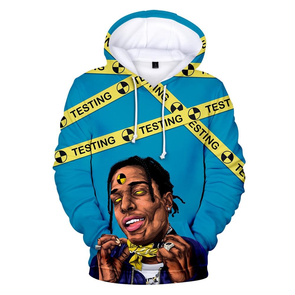 Rapper ASAP ROCKY 3D Print Women/Men Hoodies Sweatshirts Harajuku Streetwear Hip Hop Pullover Hooded Jacket Male Tracksuit