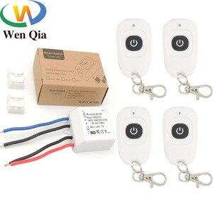 Пульт дистанционного управления 433 МГц 85 ~ 250 В 1CH 1 банда rf смарт-переключатель релейный приемник и передатчик для дома завод светильник ламп...