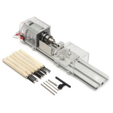 100W Cnc Mini Lathe Machine Tools Diy Woodworking Wood Lathe Milling Machines Grinding Polishing Beads Drill Rotary Tool Set Kit ac 110 240v mini diy lathe beads polisher machine woodworking grinding abrasives tools kit rotary cutting drills tool eu plug