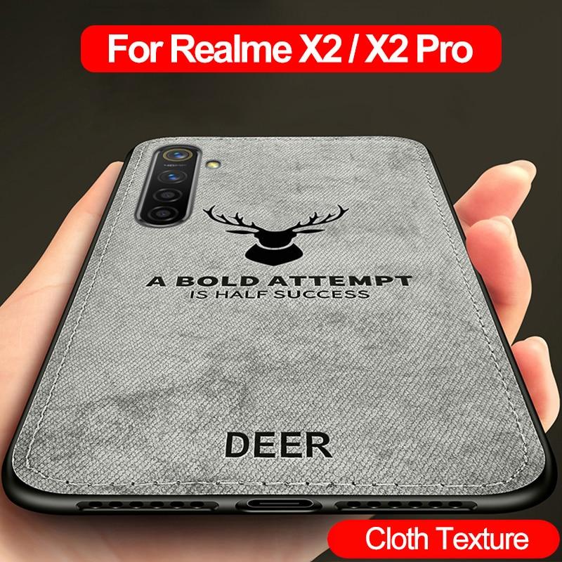 Per Realme X2 Pro Caso di Nuovo Panno di Struttura di Protezione Molle Della Copertura Posteriore per OPPO Realme X2 Pro ACE Caso