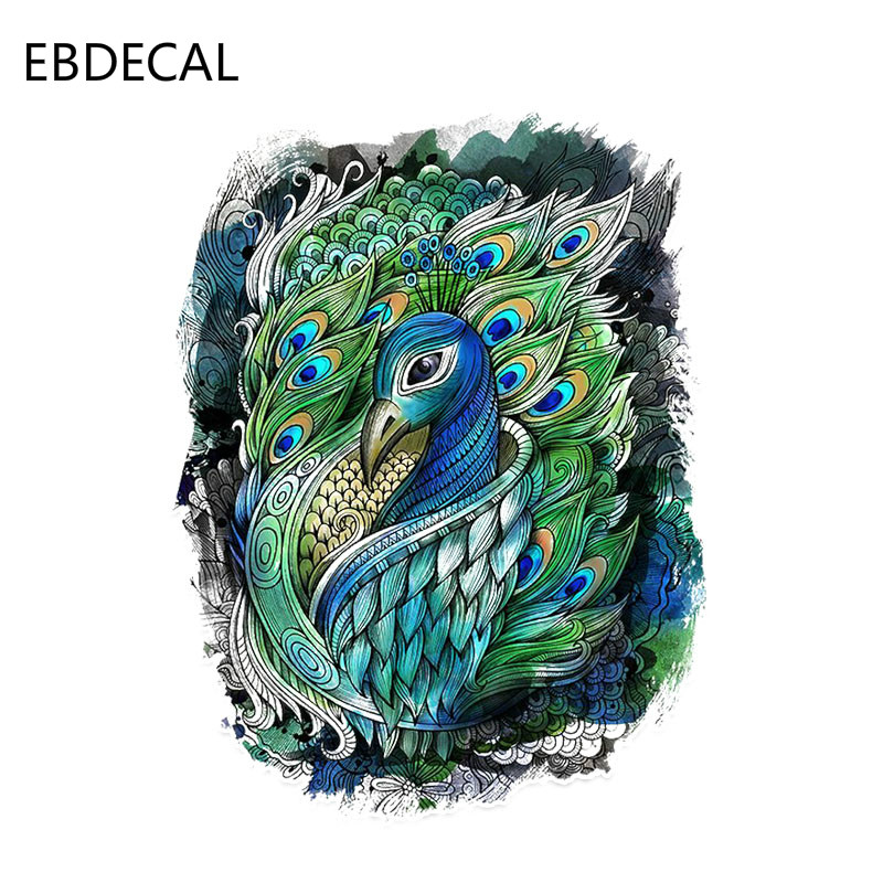 EBdecal Interesting Peacock Decor   For Auto Car/Bumper/Window/Wall Decal Sticker Decals DIY Decor CT11511