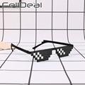 Солнцезащитные очки Thug Life для мужчин и женщин, модные прикольные винтажные забавные темные очки с кодировкой пикселей, 8 бит
