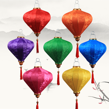New Year's Lantern Decoration Retro Chinese Palace Lantern Balcony Vietnam Diamond Lantern Decoration Outdoor Waterproof Lantern фото