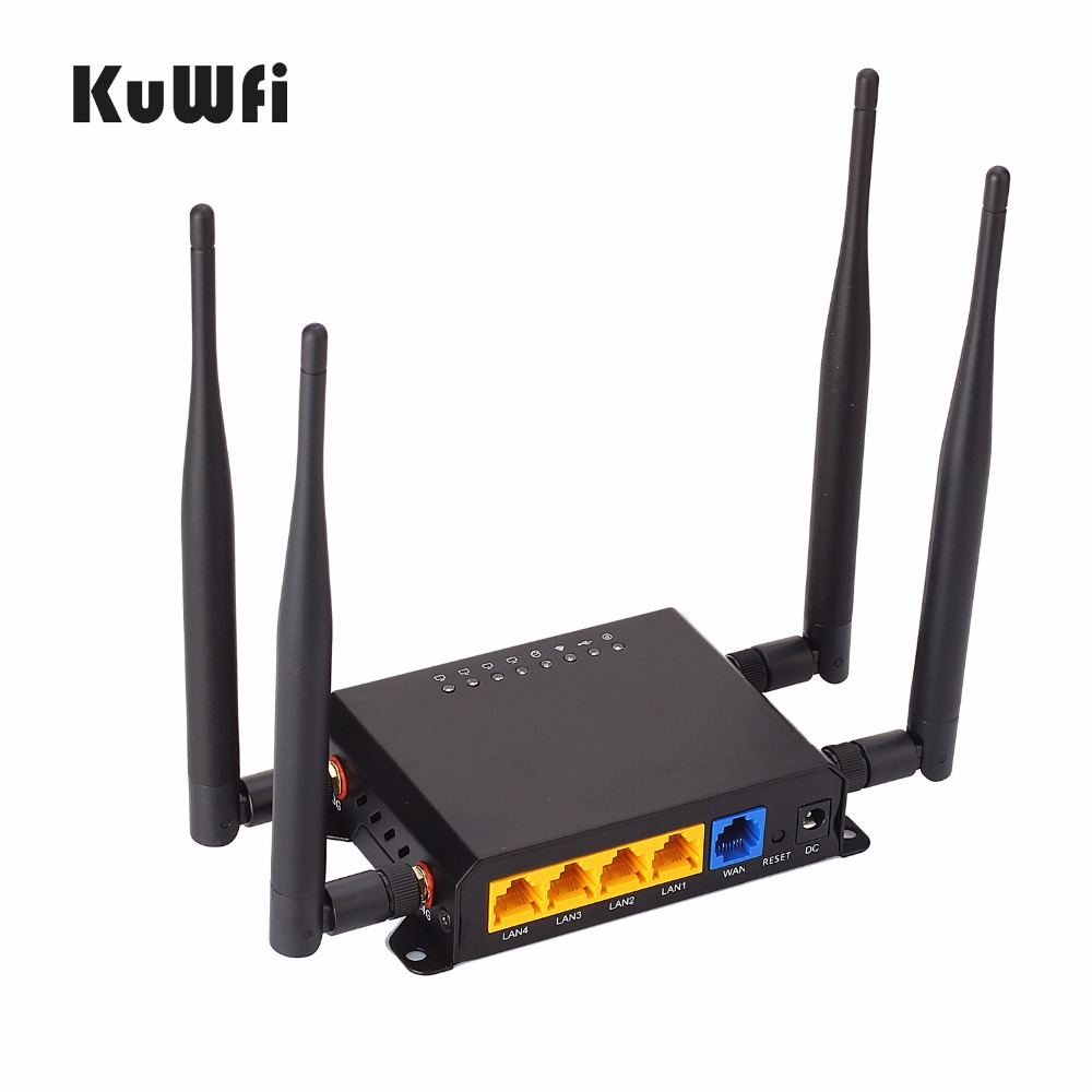 300Mbps CAT6 High Power Long Range OpenWrt 3G/4G SIM Car Wireless Router Wifi Repeater with VPN 4removable Antenna Strong Signal image