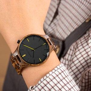 Image 3 - Relogio Masculino BOBO kuş ahşap İzle erkekler en lüks marka bilek saatler erkek saat ahşap hediye kutusu için zimba büyük hediye OEM