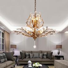 Vintage crystal chandelier Tree branch for bedroom Kitchen island Chandelier leaves Lighting Fixtures