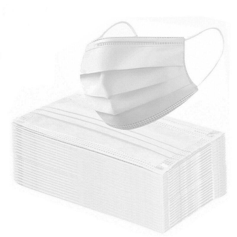 Mouth Mask Mascarillas De Proteccion 50PCS Disposable 3 Layer Protection Mask Respirator Protective Mask 50PCS Masker Maska 2020